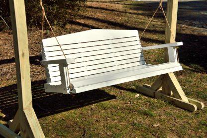 white wood swing