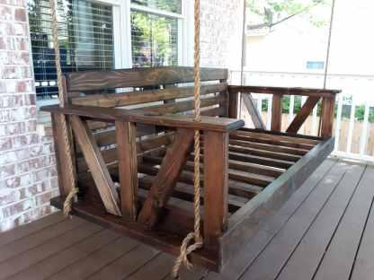Cedar Bed Swing | Jacobean Stain