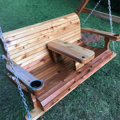 Porch Swings with cupholders For Sale