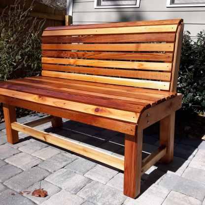 Wooden Bench Outdoor Patio