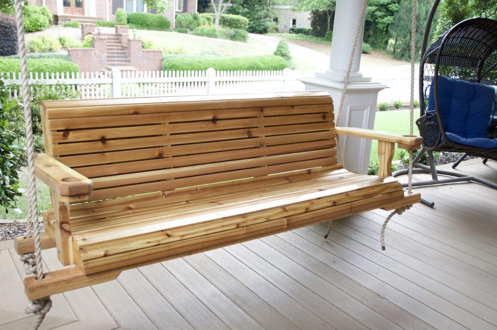 Ellijay Porch Swing Made From Cedar