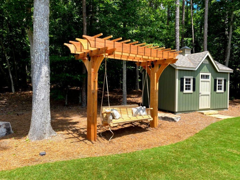 Cedar Porch Swing Cedar Pergola