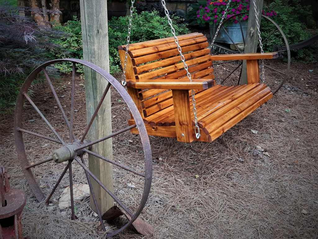 4' outdoor yard swing