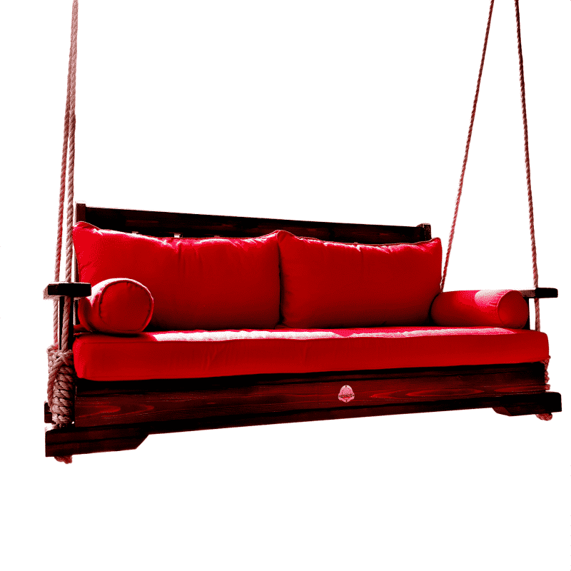 Porch Swing with Cushion & Pillows